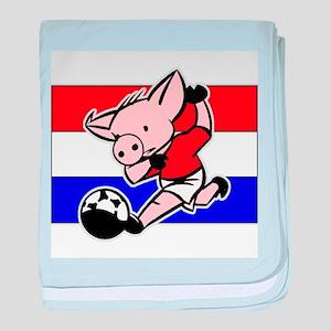Croatia Soccer Pigs baby blanket