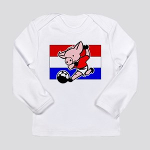 Croatia Soccer Pigs Long Sleeve Infant T-Shirt
