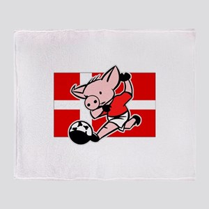 Denmark Soccer Pigs Throw Blanket