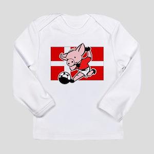 Denmark Soccer Pigs Long Sleeve Infant T-Shirt