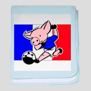 France Soccer Pigs baby blanket