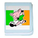 Ireland Soccer Pigs baby blanket