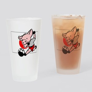 Japan Soccer Pigs Pint Glass