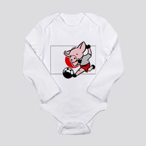 Japan Soccer Pigs Long Sleeve Infant Bodysuit