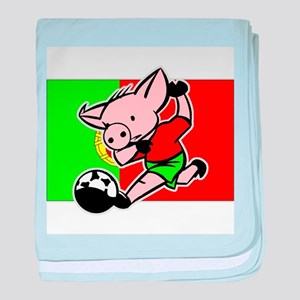 Portugal Soccer Pigs baby blanket