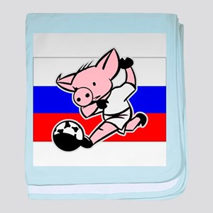 Russia Soccer Pigs baby blanket