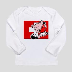 Switzerland Soccer Pigs Long Sleeve Infant T-Shirt