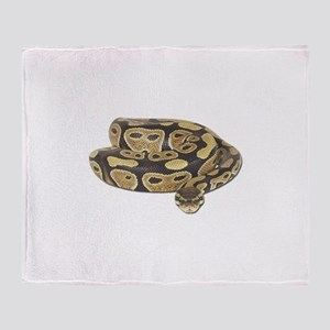 Ball Python Photo Throw Blanket