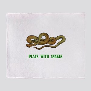 Plays With Snakes Throw Blanket