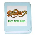 Plays With Snakes baby blanket