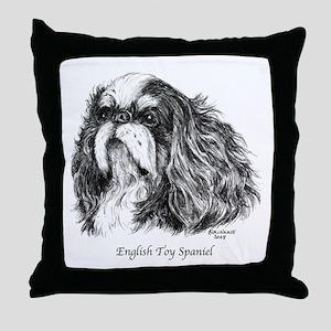 English Toy Spaniel Throw Pillow