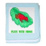 Plays With Frogs baby blanket