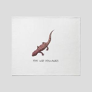 Plays With Salamanders Throw Blanket