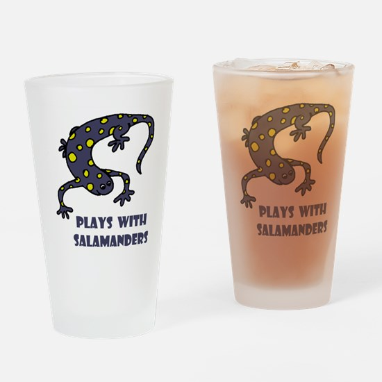 Plays With Salamanders Pint Glass