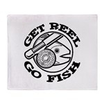 Get Reel Go Fish Throw Blanket