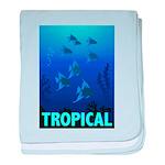 Tropical Fish baby blanket