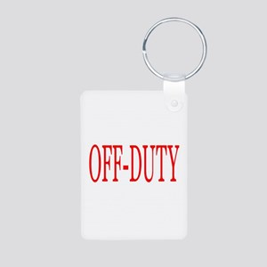 Off-Duty (Red) Aluminum Photo Keychain