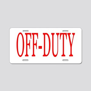 Off-Duty (Red) Aluminum License Plate