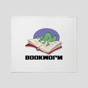 Bookworm Book Lovers Throw Blanket