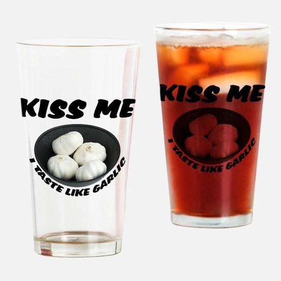 Kiss Me Garlic Pint Glass