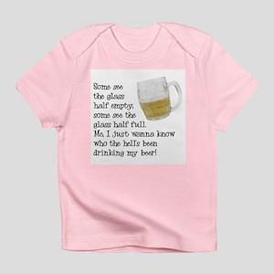 Half Glass Of Beer Infant T-Shirt