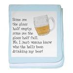 Half Glass Of Beer baby blanket