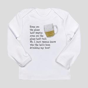Half Glass Of Beer Long Sleeve Infant T-Shirt