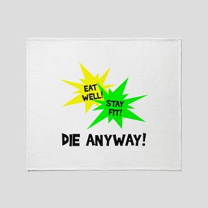 Eat Well Throw Blanket