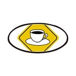 Coffee Crossing Sign Patches
