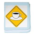 Coffee Crossing Sign baby blanket