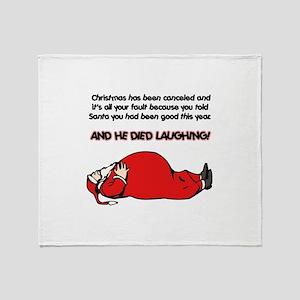 Christmas Is Cancelled Joke Throw Blanket