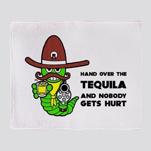 Funny Tequila Throw Blanket
