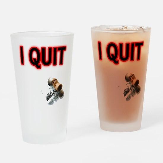 I Quit Smoking Pint Glass