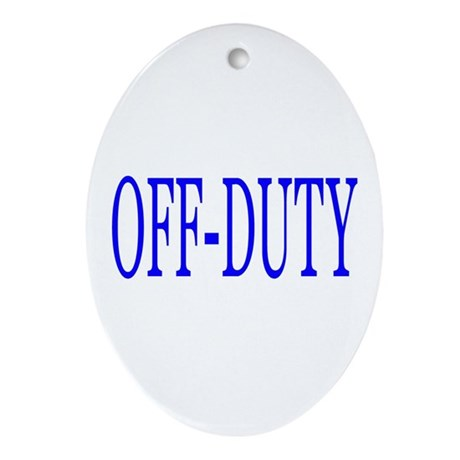 Off-Duty (Blue) Ornament (Oval)
