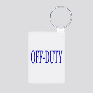 Off-Duty (Blue) Aluminum Photo Keychain