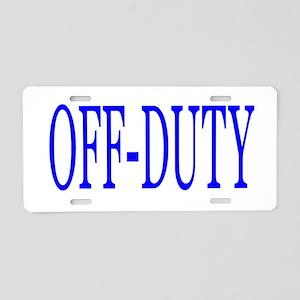 Off-Duty (Blue) Aluminum License Plate