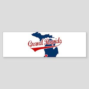 Grand Rapids, where the heart Sticker (Bumper)