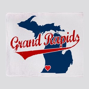 Grand Rapids, where the heart Throw Blanket