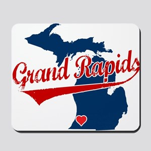 Grand Rapids, where the heart Mousepad