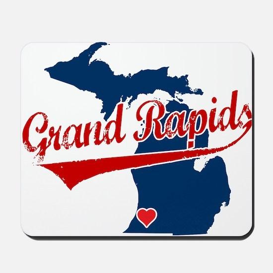 Grand Rapids, where the heart Mousepad