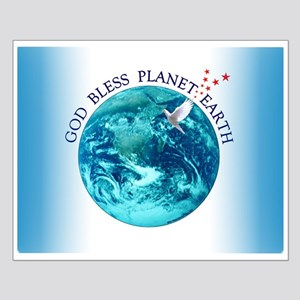 God Bless Planet Earth Small Poster