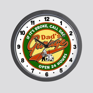 Dad's Garage Wall Clock