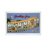 Washington D.C. Rectangle Magnet (100 pack)
