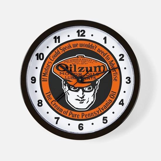 Oilzum Motor Oil Wall Clock