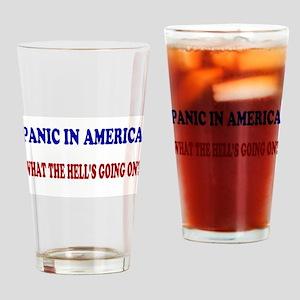 panic in america Pint Glass