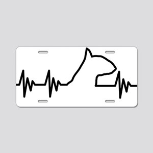 BULL TERRIER HEART BEAT Aluminum License Plate