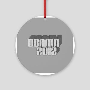 Gray Obama 3D 2012 Ornament (Round)