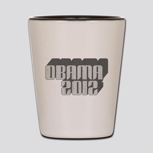 Gray Obama 3D 2012 Shot Glass