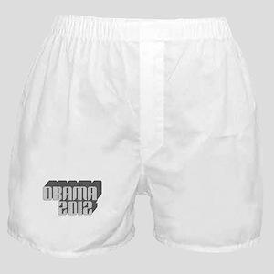 Gray Obama 3D 2012 Boxer Shorts