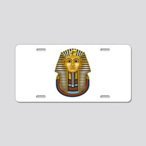 King Tut's Golden Mask Aluminum License Plate